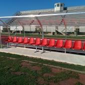 Fornitura e installazione panche per allenatori e staff tecnico calcio a Elmas (CA)