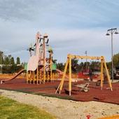 Lavori in corso area giochi a Palmas Arborea (OR)